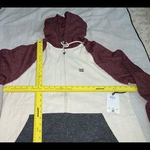 BILLABONG Long Sleeve Zipper Down Hoodie New NWT